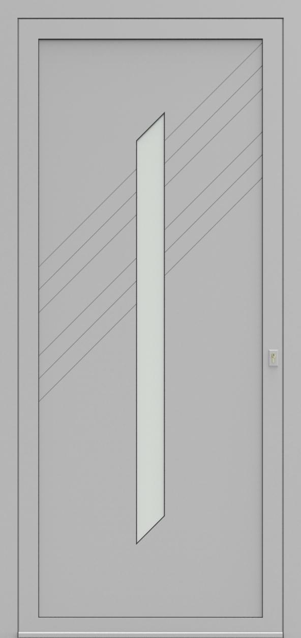 Porte d'entrée EQUILINE 8 de la gamme Light Design posée par les établissements CELEREAU à Roncq