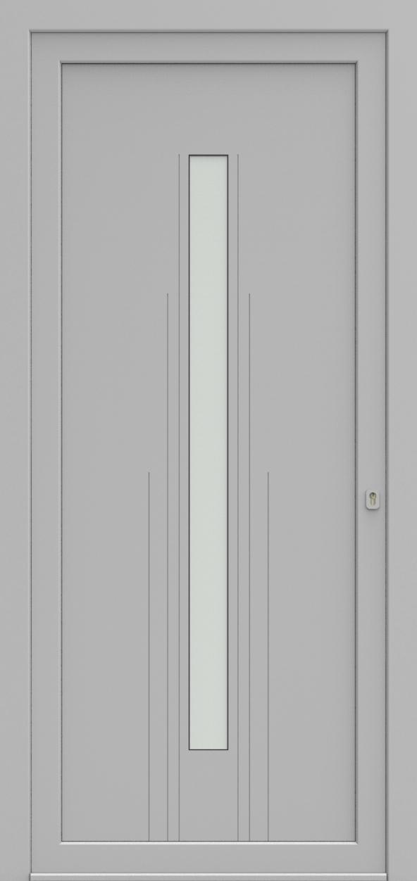 Porte d'entrée EQUILINE 9 de la gamme Light Design posée par les établissements CELEREAU à Roncq