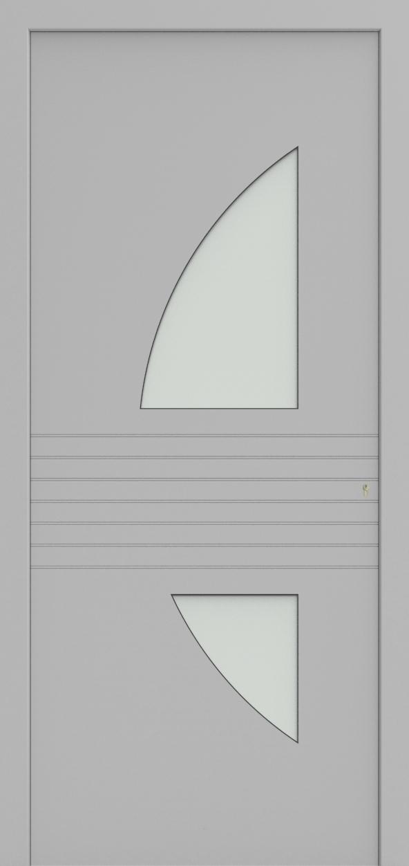 Porte d'entrée 92120S KOBE de la gamme Light Design posée par les établissements CELEREAU à Roncq