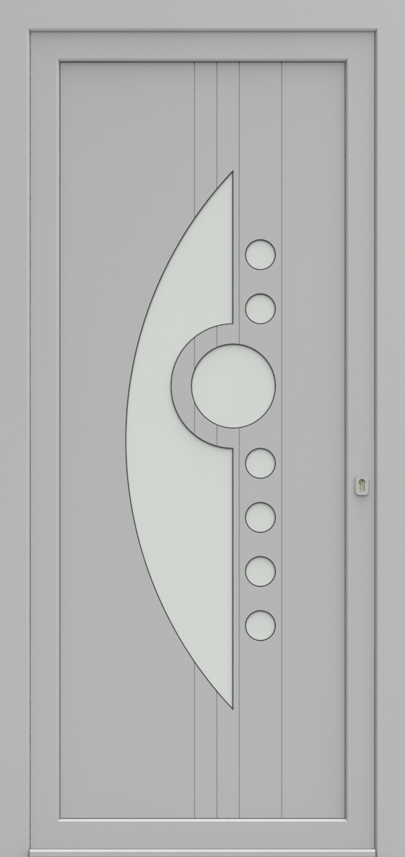 Porte d'entrée 93610S HEPRO de la gamme Light Design posée par les établissements CELEREAU à Roncq