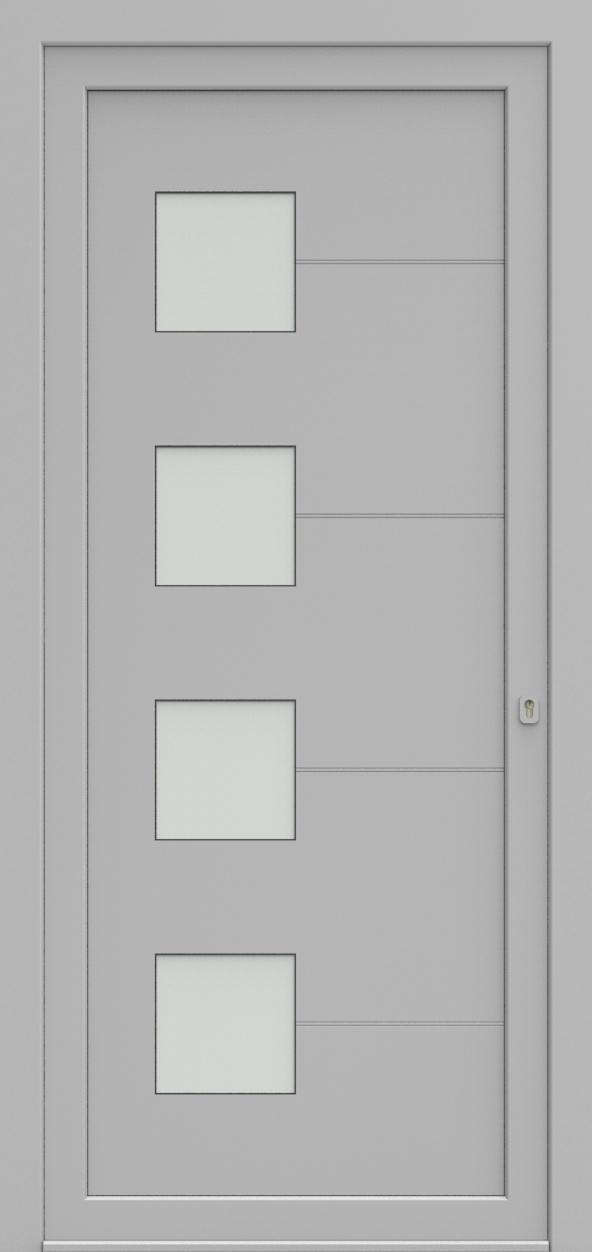 Porte d'entrée 96340 CALINE de la gamme Light Design posée par les établissements CELEREAU à Roncq