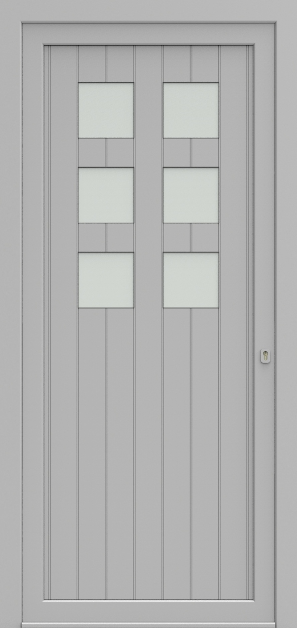 Porte d'entrée 97410B CADRAGE de la gamme Light Design posée par les établissements CELEREAU à Roncq