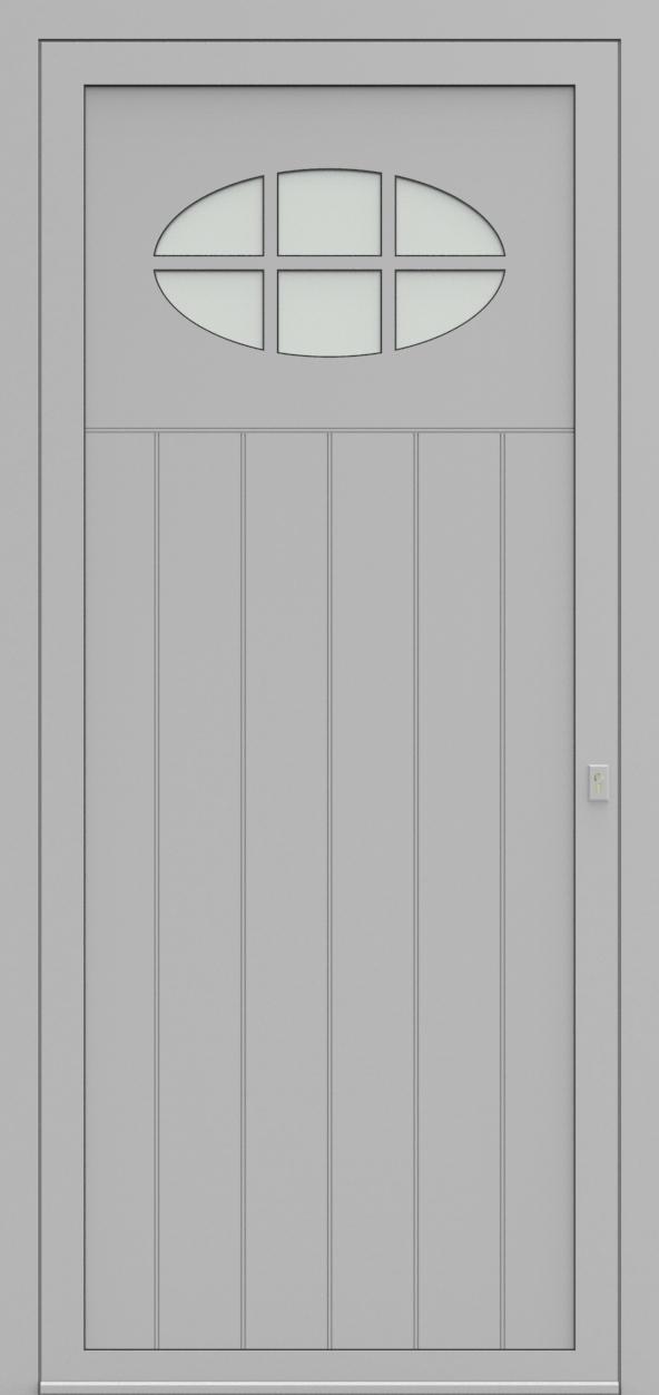 Porte d'entrée 98710A LAMBRISSAGE de la gamme Light Design posée par les établissements CELEREAU à Roncq