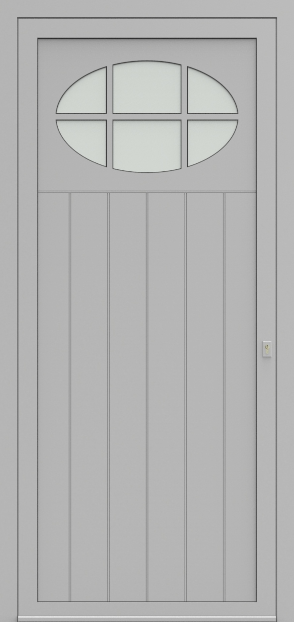 Porte d'entrée 98710B LAMBRISSAGE de la gamme Light Design posée par les établissements CELEREAU à Roncq