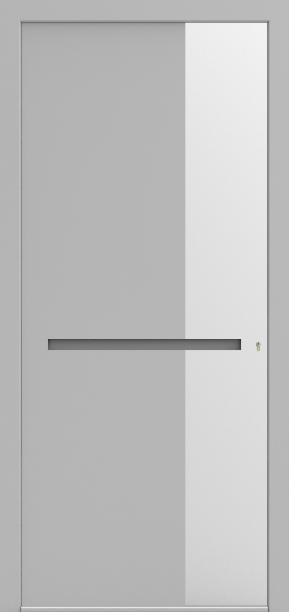 Porte d'entrée 3D JULIEN de la gamme Minimal posée par les établissements CELEREAU à Roncq