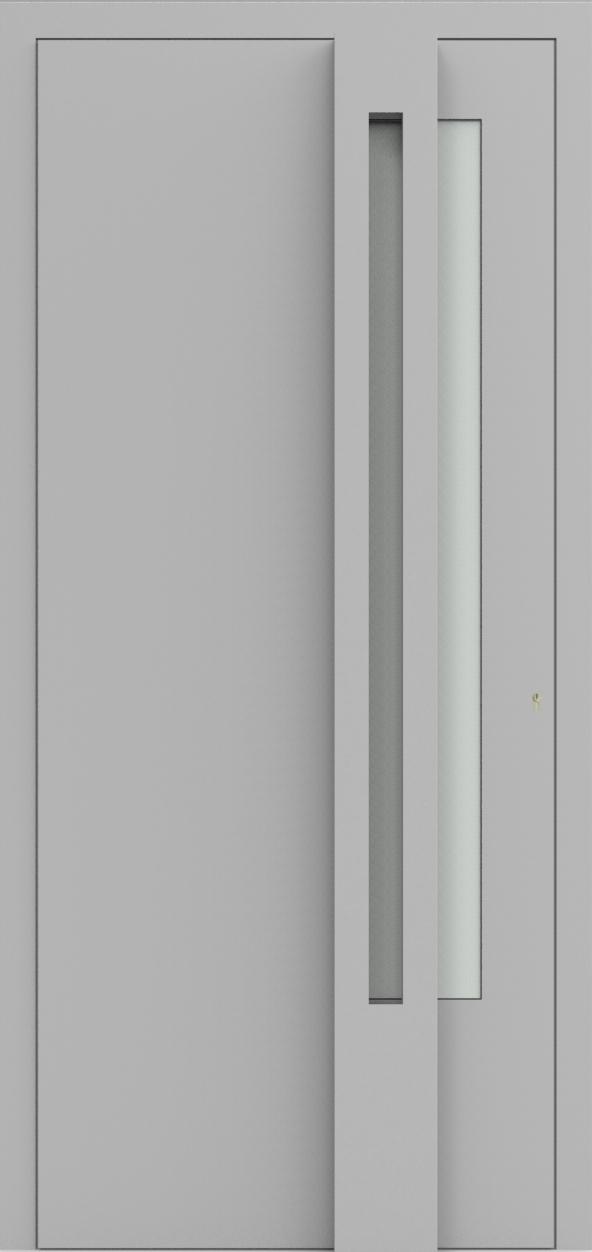 Porte d'entrée 3D OSCAR de la gamme Minimal posée par les établissements CELEREAU à Roncq