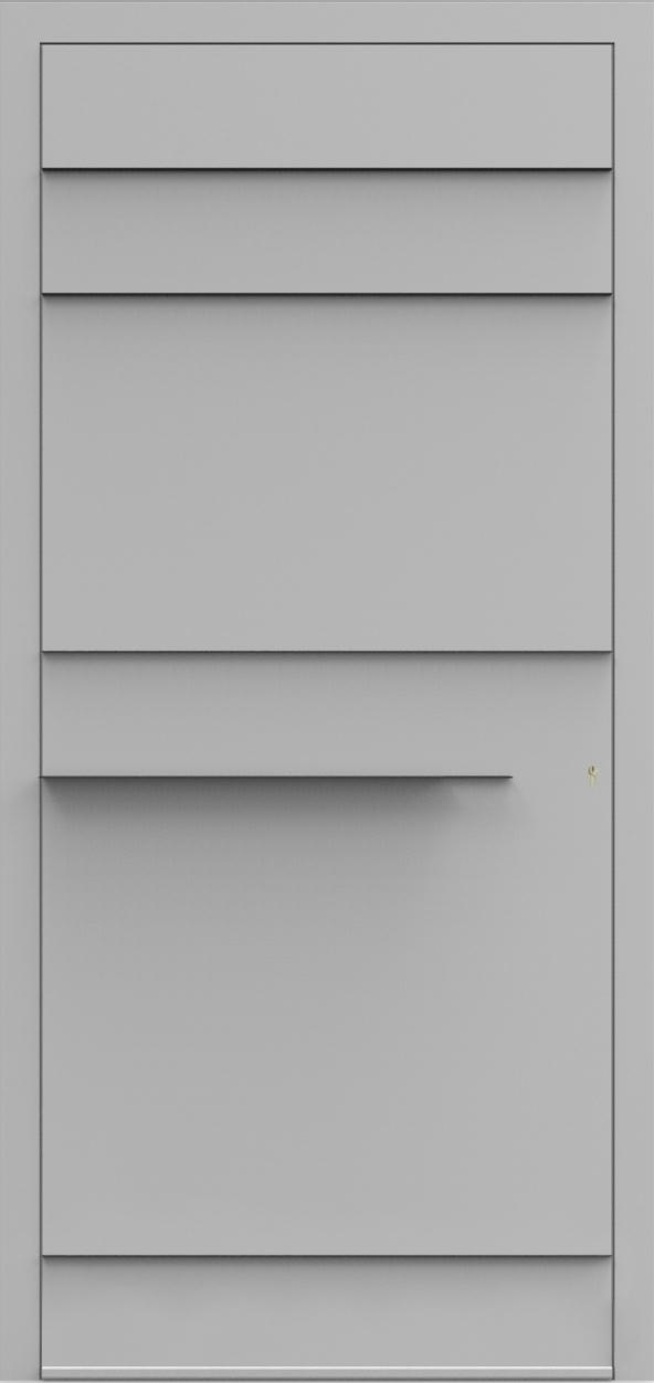 Porte d'entrée 3D GERMAIN de la gamme Minimal posée par les établissements CELEREAU à Roncq