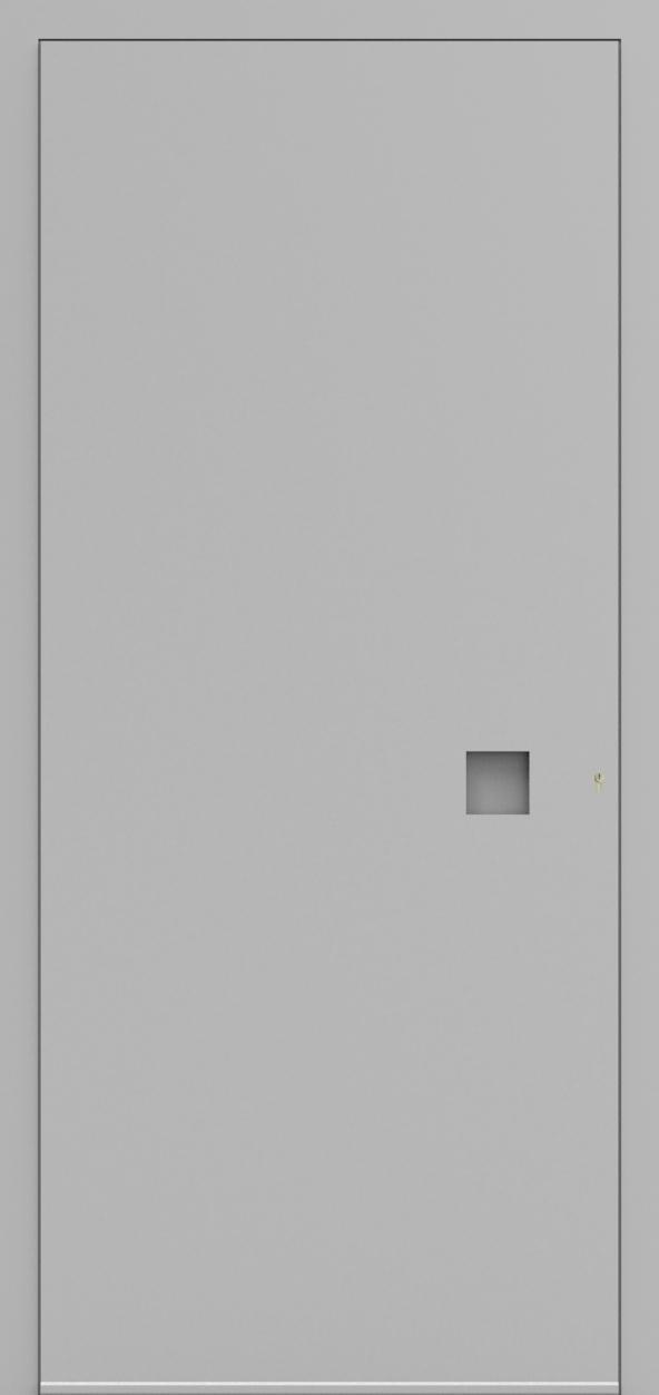 Porte d'entrée 3D GILBERT de la gamme Minimal posée par les établissements CELEREAU à Roncq