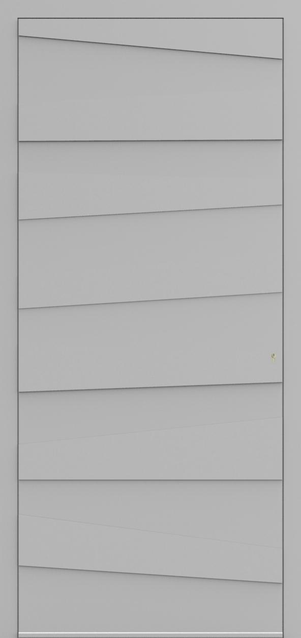 Porte d'entrée 3D MARCEL de la gamme Minimal posée par les établissements CELEREAU à Roncq