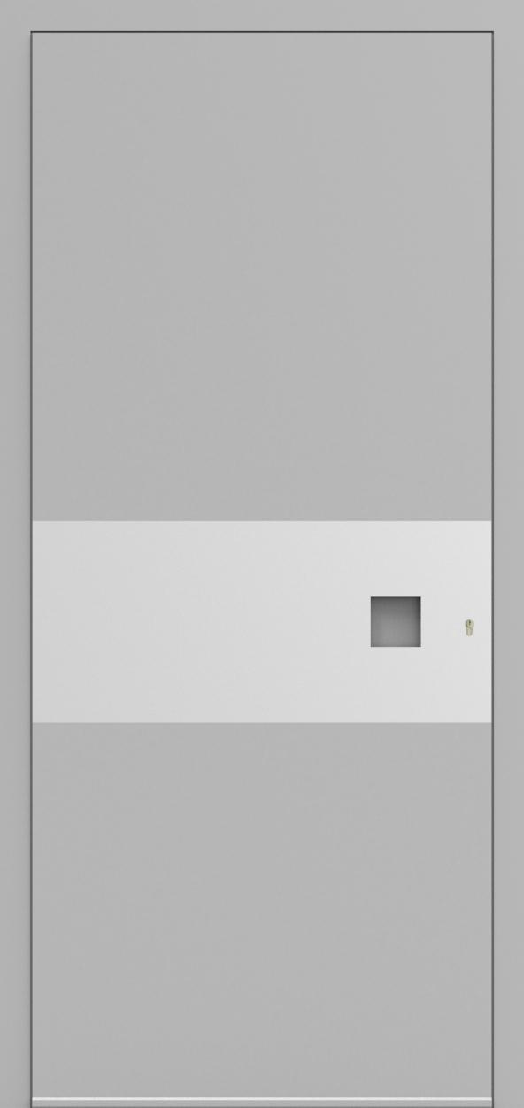 Porte d'entrée 3D MAURICE de la gamme Minimal posée par les établissements CELEREAU à Roncq