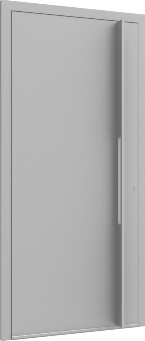 Porte d'entrée FLAT + TUBE011 VER de la gamme Minimal posée par les établissements CELEREAU à Roncq