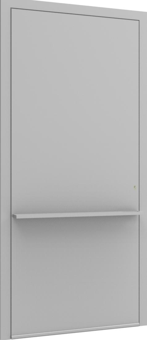Porte d'entrée FLAT + TUBE011 HOR de la gamme Minimal posée par les établissements CELEREAU à Roncq