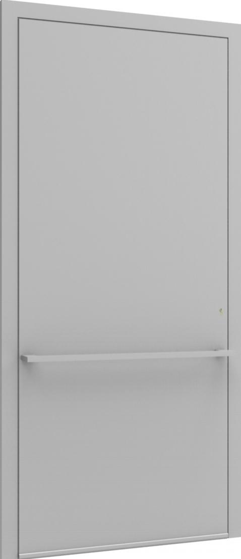 Porte d'entrée FLAT + TUBE016 HOR de la gamme Minimal posée par les établissements CELEREAU à Roncq