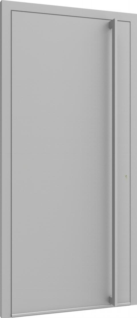 Porte d'entrée FLAT + TUBE016 VER de la gamme Minimal posée par les établissements CELEREAU à Roncq