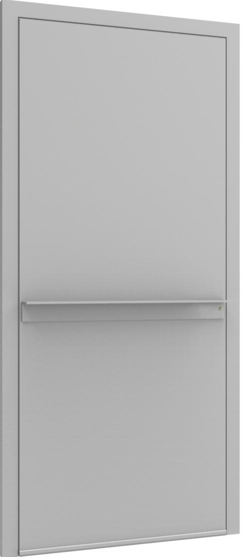 Porte d'entrée FLAT + TUBE017 HOR de la gamme Minimal posée par les établissements CELEREAU à Roncq