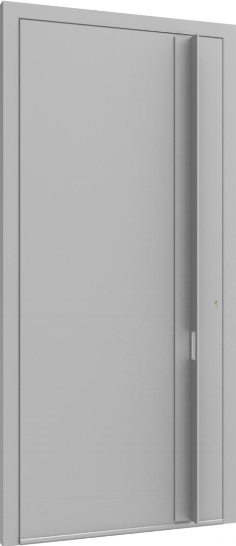 Porte d'entrée FLAT + TUBE017 VER de la gamme Minimal posée par les établissements CELEREAU à Roncq
