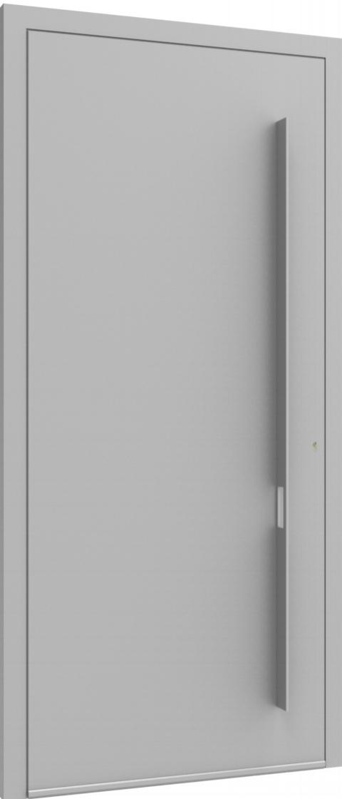 Porte d'entrée FLAT + TUBE018 VER de la gamme Minimal posée par les établissements CELEREAU à Roncq