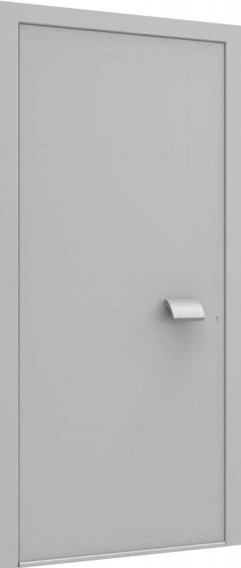 Porte d'entrée FLAT + TUBE050 HOR de la gamme Minimal posée par les établissements CELEREAU à Roncq