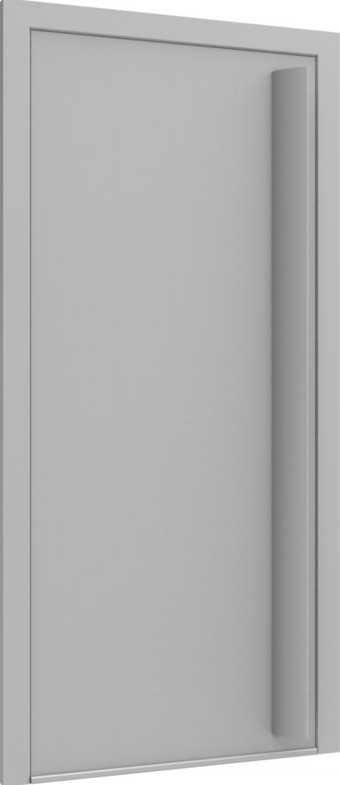 Porte d'entrée FLAT + TUBE050 VER de la gamme Minimal posée par les établissements CELEREAU à Roncq