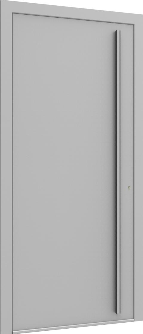 Porte d'entrée FLAT + TUBE051 VER de la gamme Minimal posée par les établissements CELEREAU à Roncq