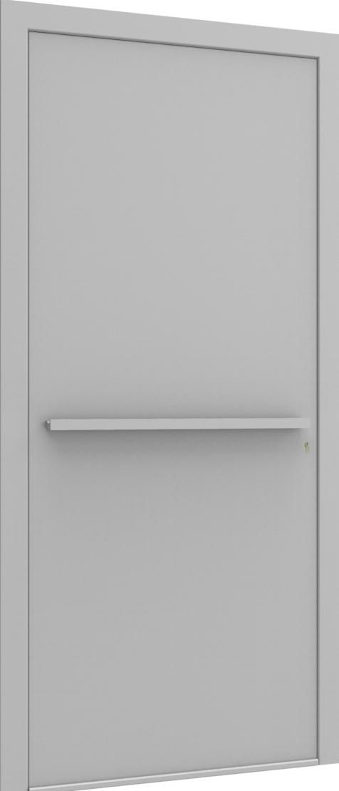 Porte d'entrée FLAT + TUBE052 HOR de la gamme Minimal posée par les établissements CELEREAU à Roncq