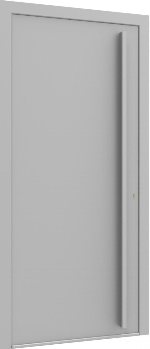 Porte d'entrée FLAT + TUBE052 VER de la gamme Minimal posée par les établissements CELEREAU à Roncq