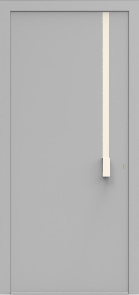 Porte d'entrée UNO 2.0 de la gamme Minimal posée par les établissements CELEREAU à Roncq