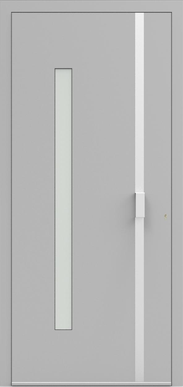 Porte d'entrée UNO 4.10 de la gamme Minimal posée par les établissements CELEREAU à Roncq