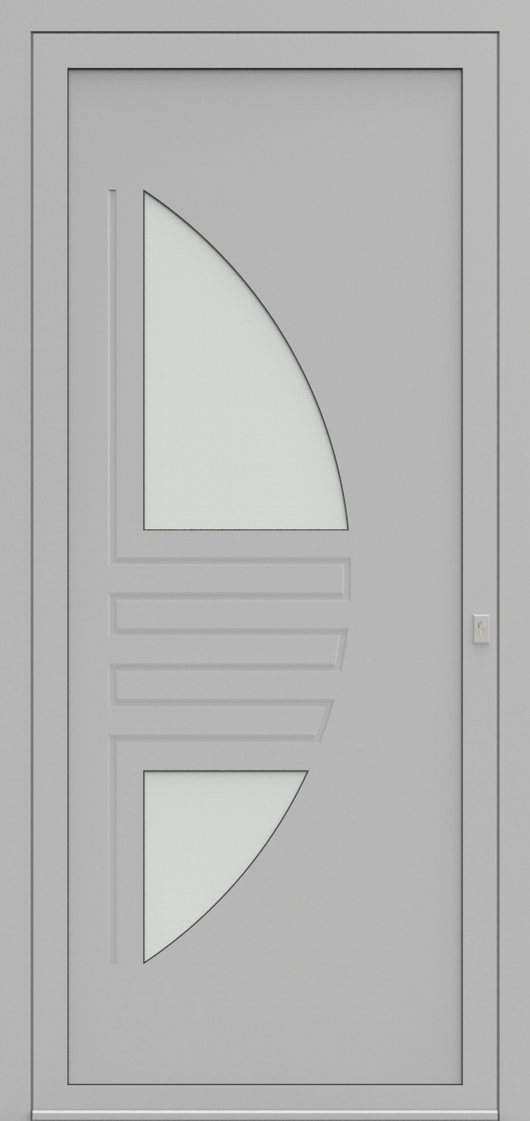 Porte d'entrée 25420 LEE de la gamme Mondial posée par les établissements CELEREAU à Roncq