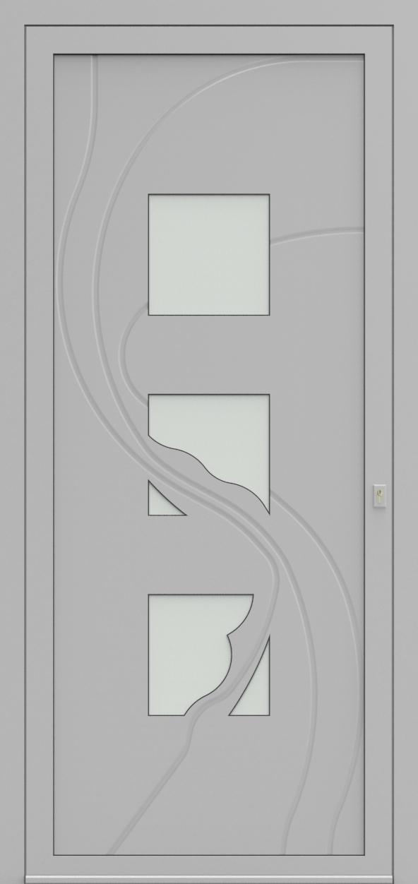 Porte d'entrée 63830S ENNIO de la gamme Mondial posée par les établissements CELEREAU à Roncq