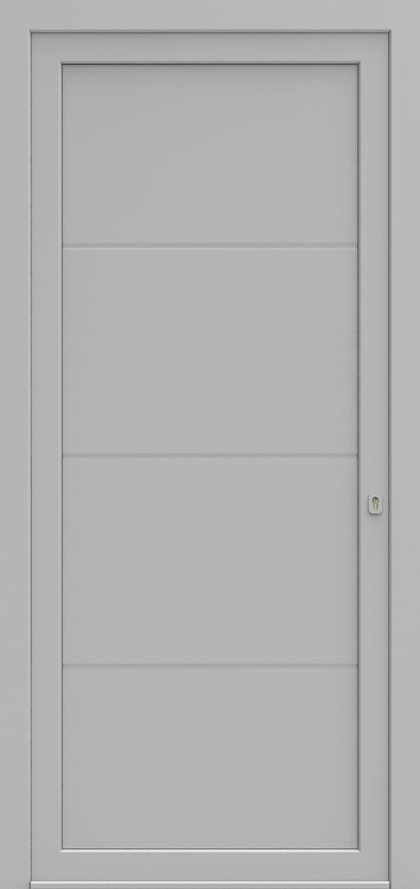Porte d'entrée MO DESIGN A de la gamme Mondial posée par les établissements CELEREAU à Roncq