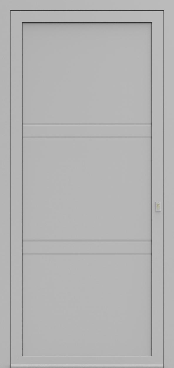 Porte d'entrée MO DESIGN C de la gamme Mondial posée par les établissements CELEREAU à Roncq