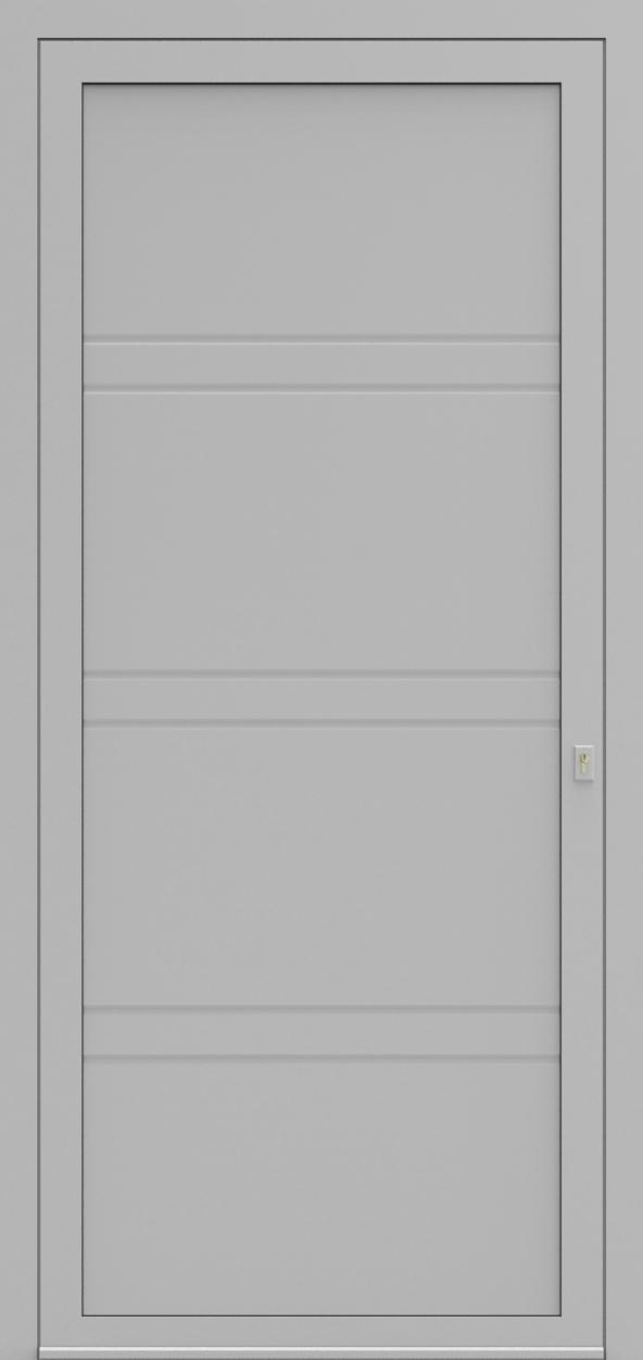 Porte d'entrée MO DESIGN G de la gamme Mondial posée par les établissements CELEREAU à Roncq