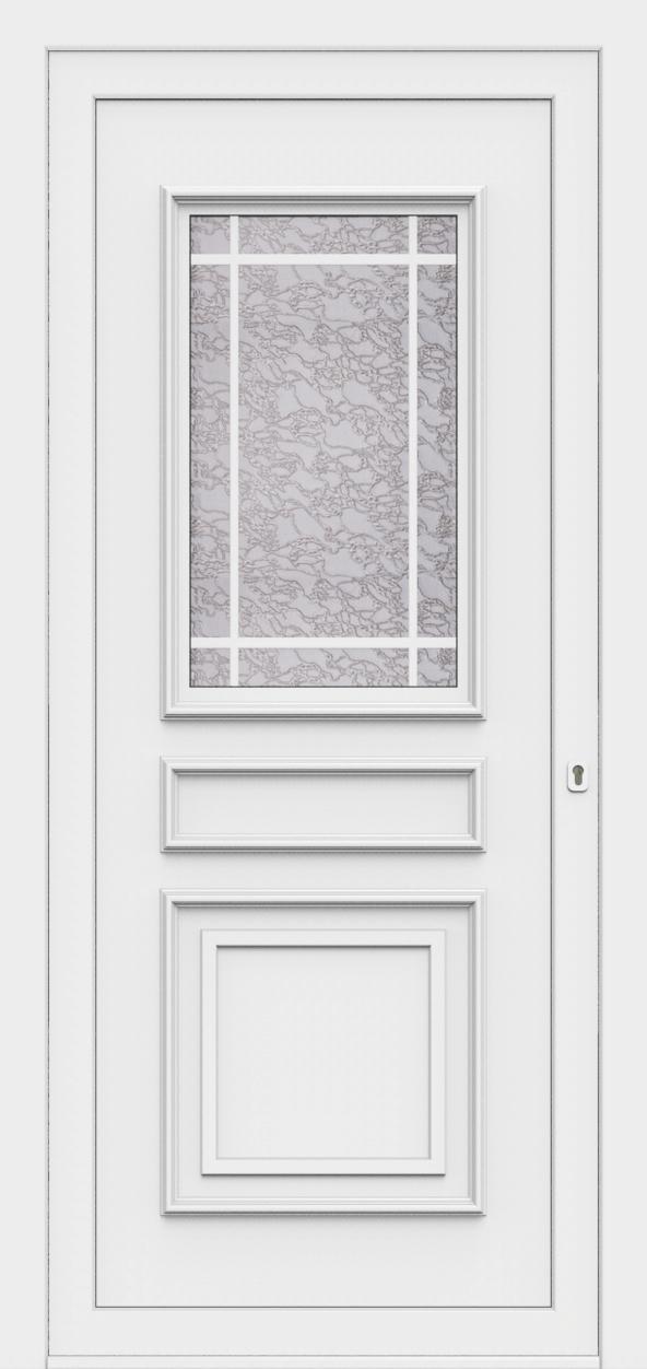 Porte d'entrée 80710 DMWK MATHILDA delta mat + witte kk de la gamme Monty posée par les établissements CELEREAU à Roncq