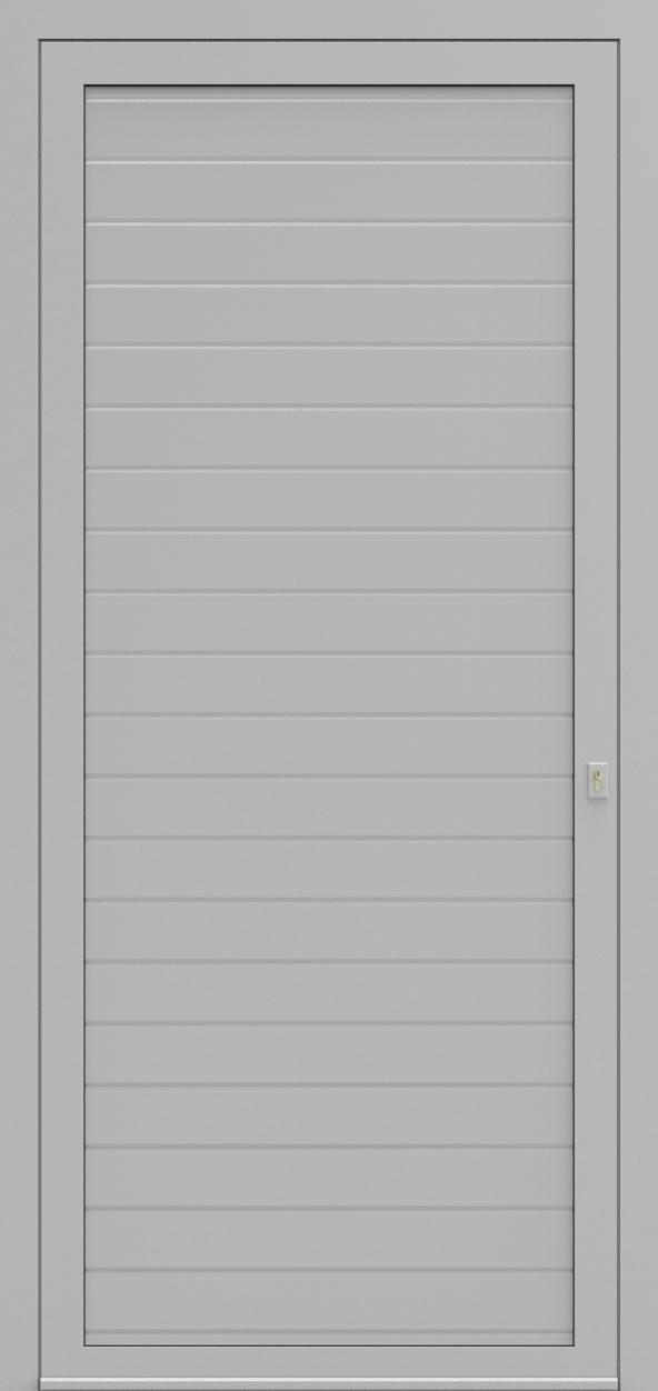 Porte d'entrée HORIZONTAL RAINURE de la gamme Rainuré posée par les établissements CELEREAU à Roncq