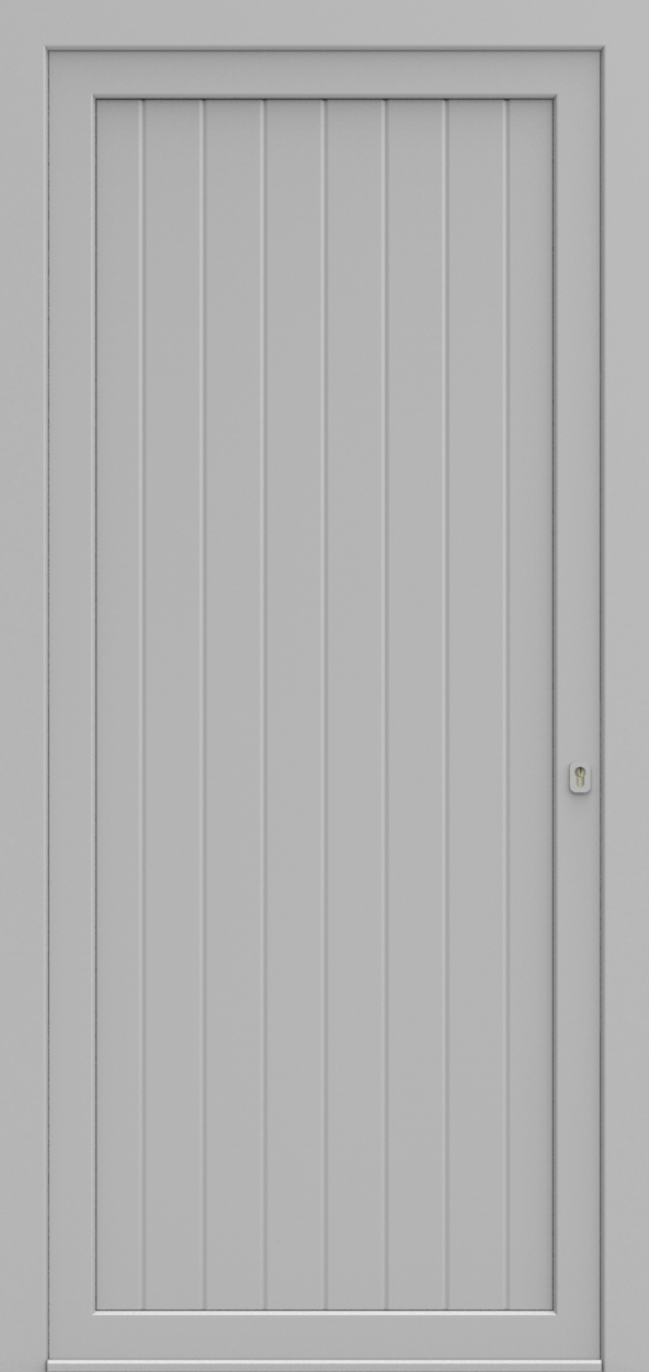 Porte d'entrée V-FORM XPS VERTICAL RAINURE de la gamme Rainuré posée par les établissements CELEREAU à Roncq