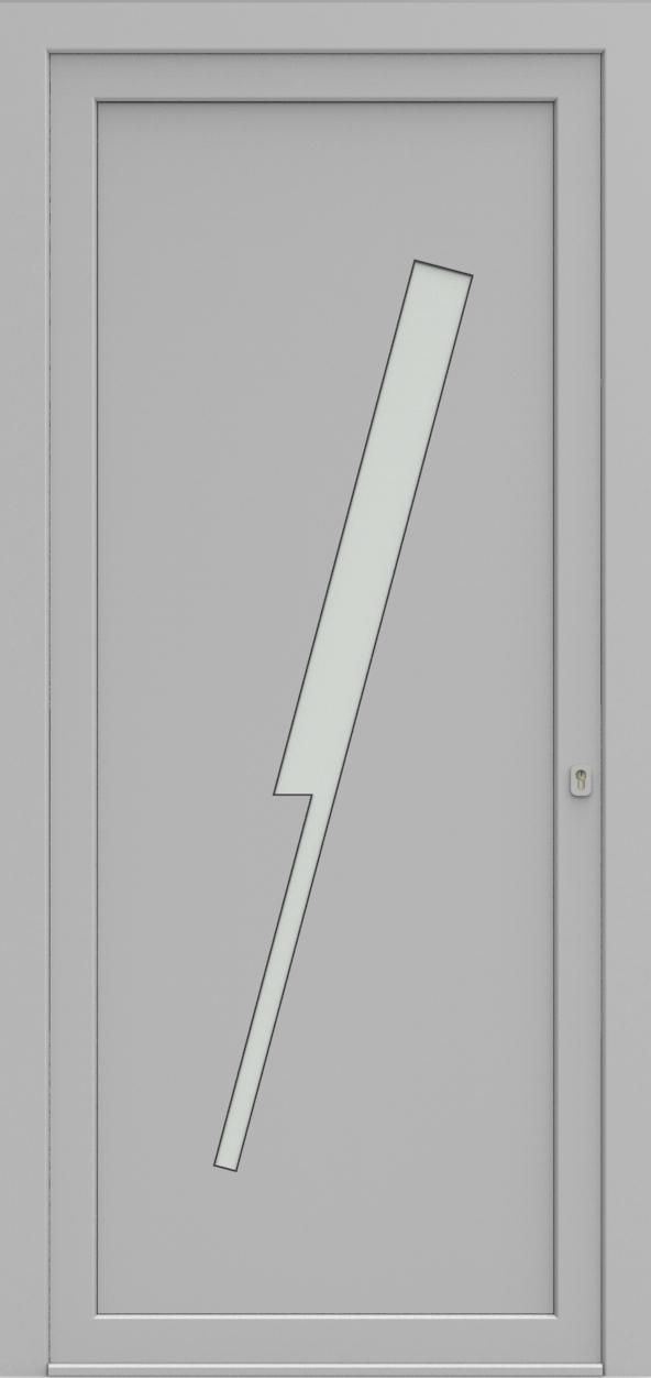 Porte d'entrée EQUISOL 4 de la gamme Solo posée par les établissements CELEREAU à Roncq