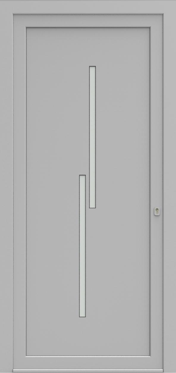 Porte d'entrée EQUISOL 6 de la gamme Solo posée par les établissements CELEREAU à Roncq