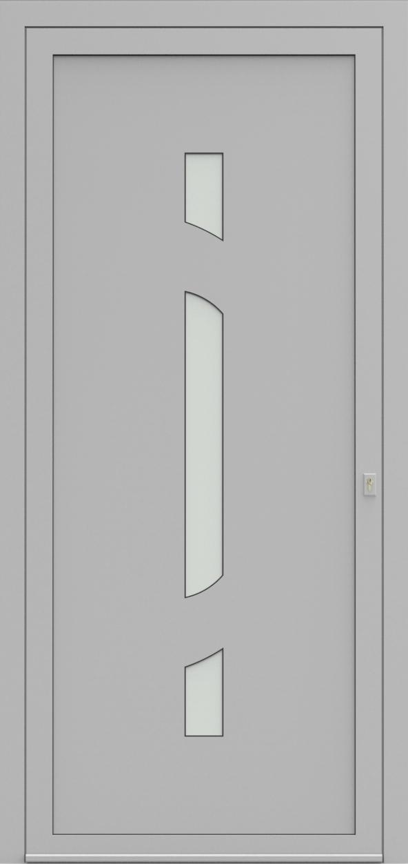 Porte d'entrée EQUISOL 8 de la gamme Solo posée par les établissements CELEREAU à Roncq