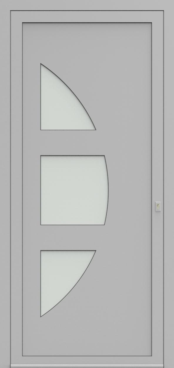 Porte d'entrée 18430 NARCIS de la gamme Solo posée par les établissements CELEREAU à Roncq
