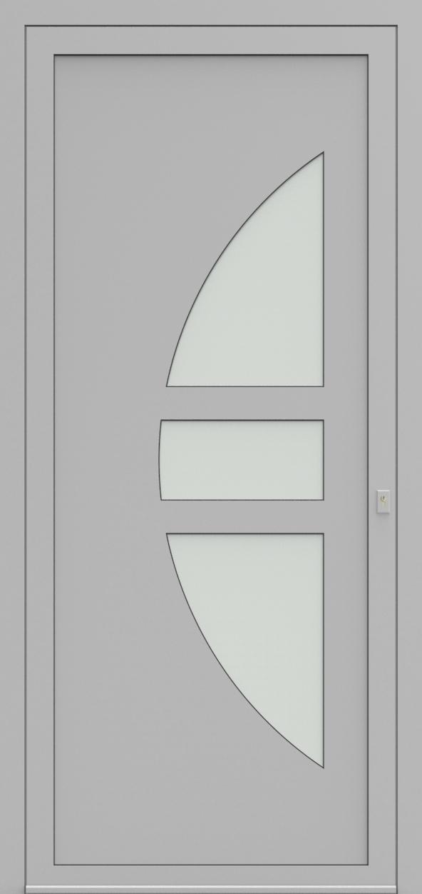 Porte d'entrée 19410S T3 SOPRANO de la gamme Solo posée par les établissements CELEREAU à Roncq