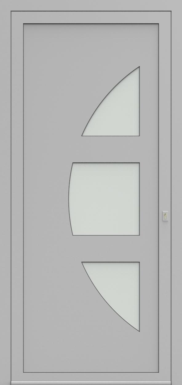Porte d'entrée 19410S T4 SOPRANO de la gamme Solo posée par les établissements CELEREAU à Roncq