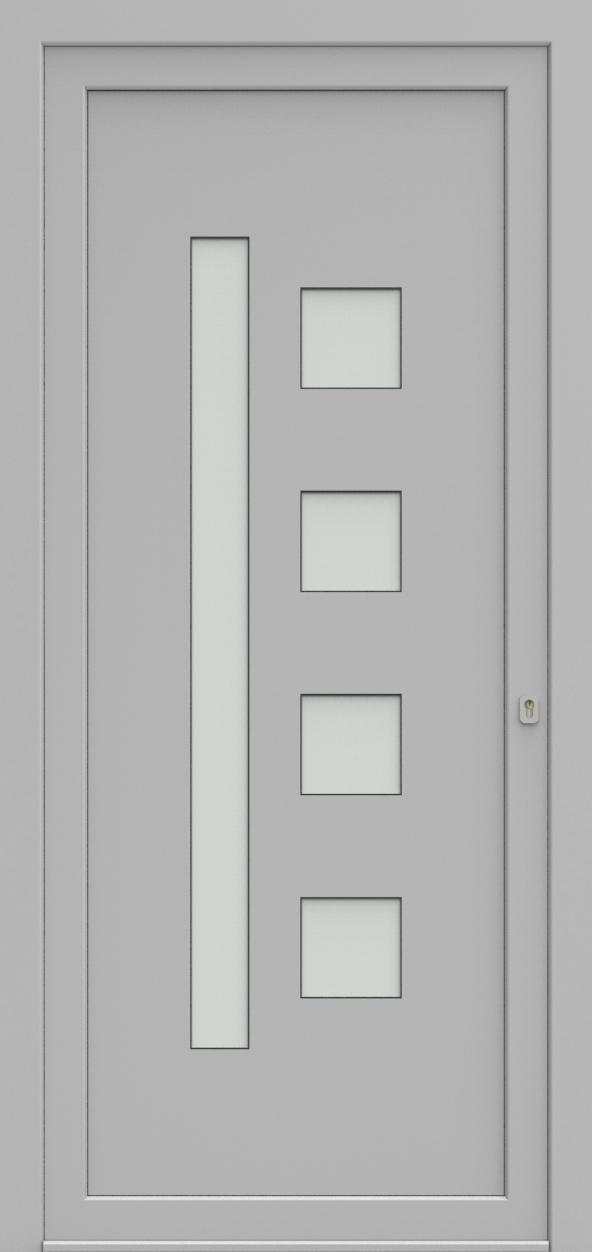 Porte d'entrée 24250 ANITA de la gamme Solo posée par les établissements CELEREAU à Roncq