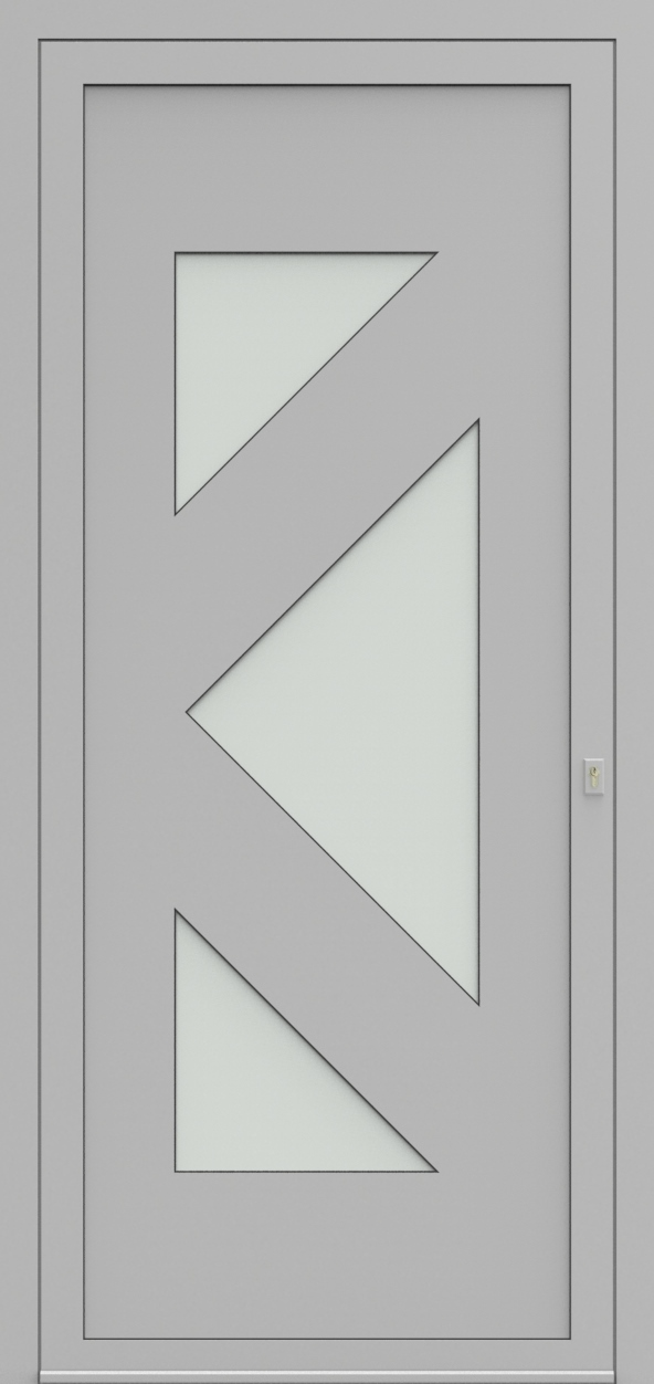 Porte d'entrée 48035 CARLOS de la gamme Solo posée par les établissements CELEREAU à Roncq