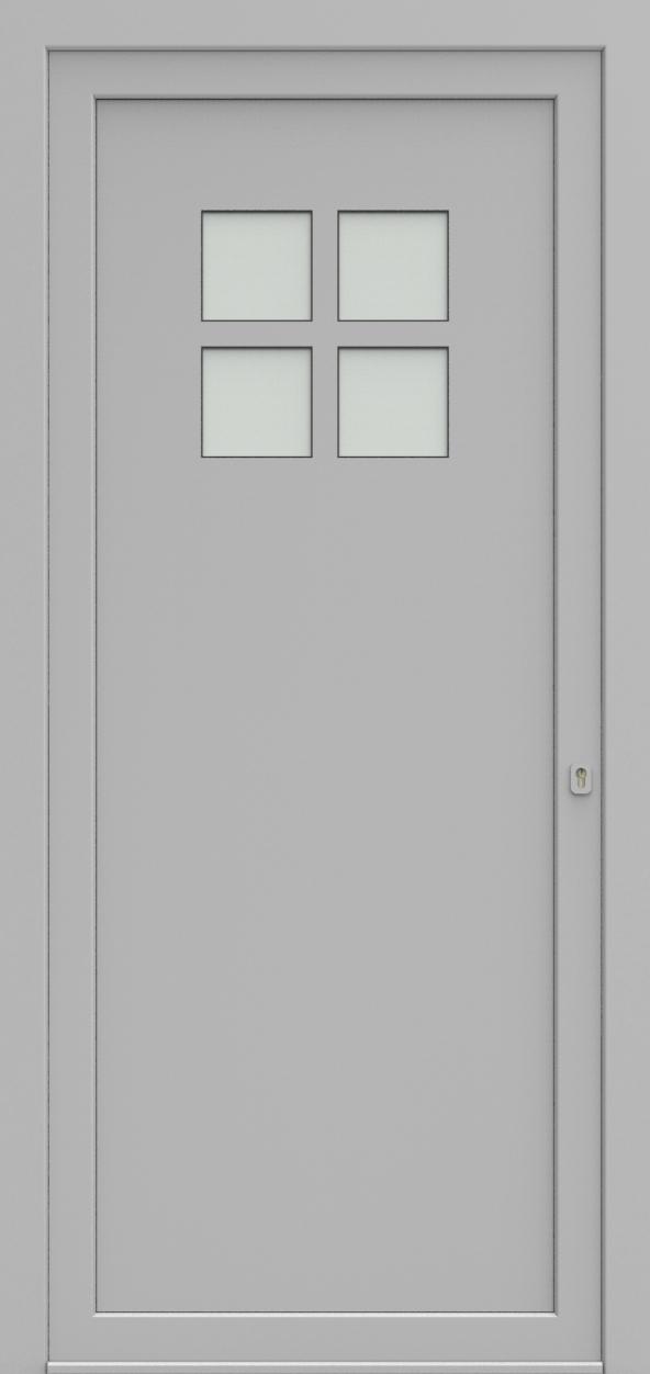 Porte d'entrée 74410A VERNISSAGE de la gamme Solo posée par les établissements CELEREAU à Roncq
