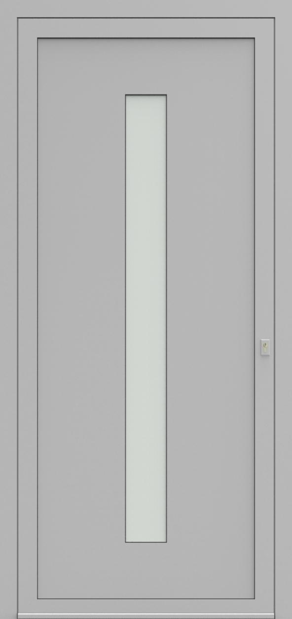 Porte d'entrée 75410B UNIC1 de la gamme Solo posée par les établissements CELEREAU à Roncq
