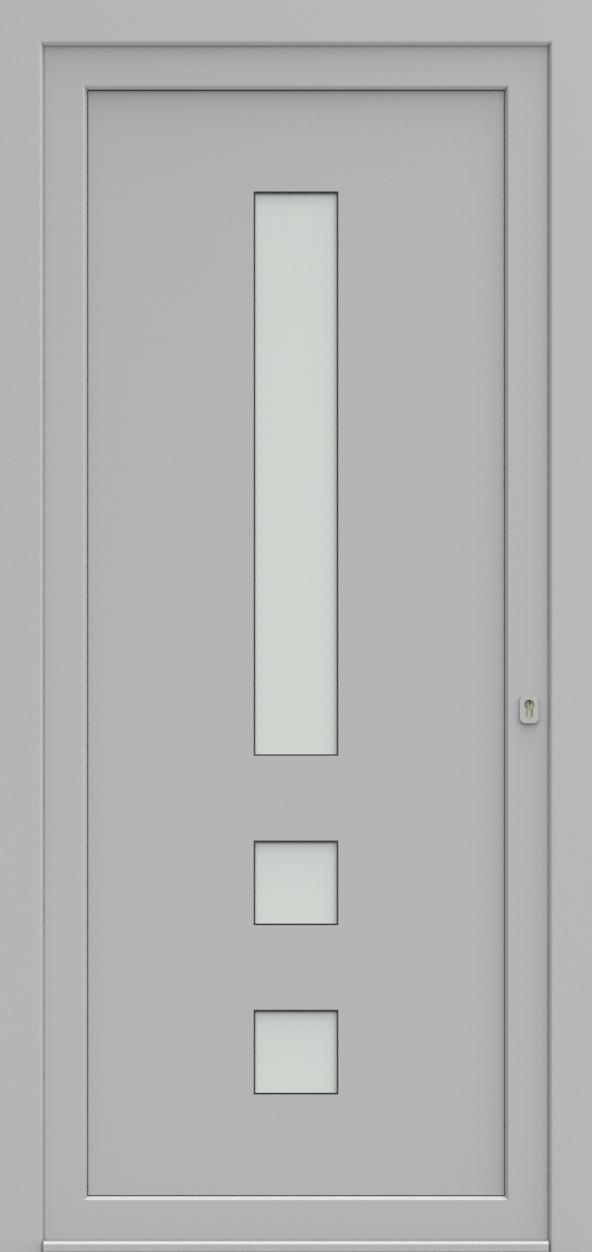 Porte d'entrée 75430B UNIC3 de la gamme Solo posée par les établissements CELEREAU à Roncq