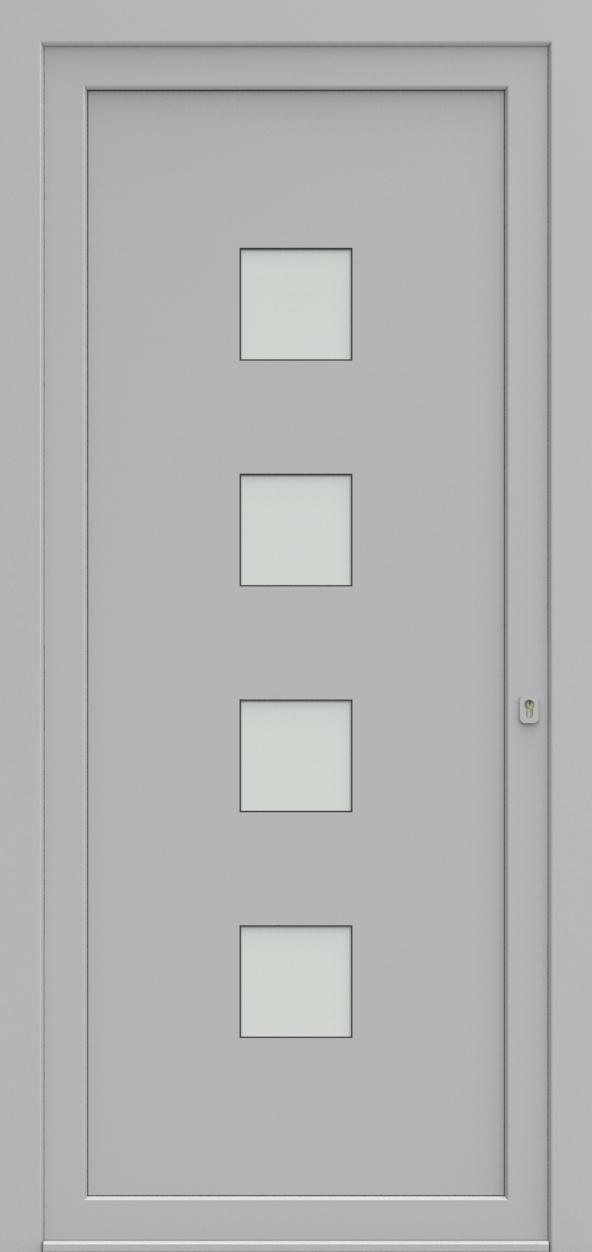 Porte d'entrée 75440B UNIC4 de la gamme Solo posée par les établissements CELEREAU à Roncq