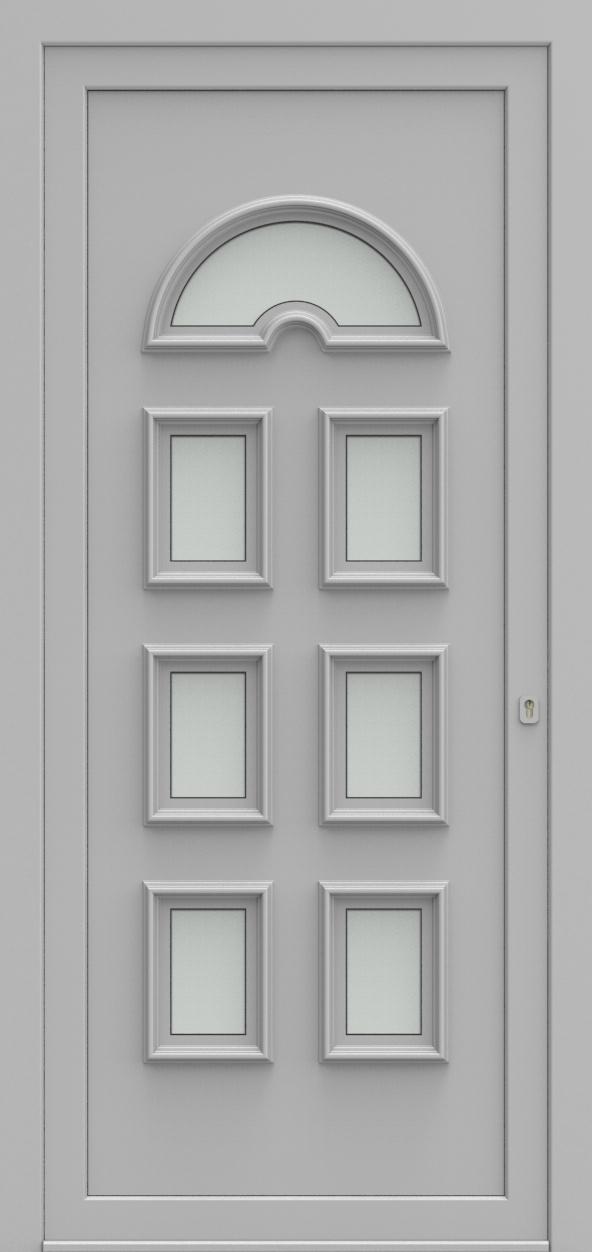 Porte d'entrée 2370 NIKITA de la gamme Topline posée par les établissements CELEREAU à Roncq