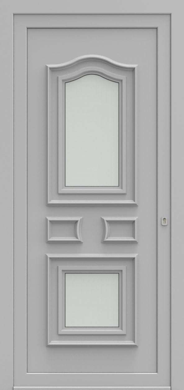 Porte d'entrée 2520 CHATEAU de la gamme Topline posée par les établissements CELEREAU à Roncq